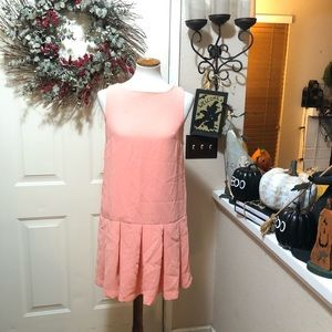 Lovely  Peach French Connection Tennis Style Dress